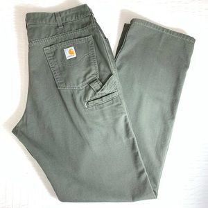 Carhartt Carpenter Pants in Olive Green